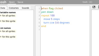 tosh——スクラッチをテキストでプログラミング